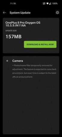يتم تعطيل وضع Photochrome على OnePlus 8 Pro عالميًا