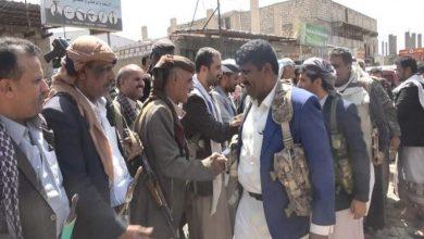 Photo of وفد من أبناء تعز يزور المرابطين في جبهات قانية وردمان والعبدية