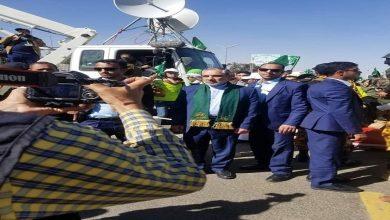صورة سفير إيران لدى اليمن یحضر الاحتفال بمولد الرسول الكريم (ص) في صنعاء