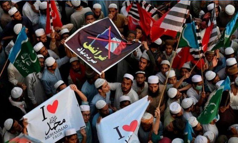 صورة استمرار التظاهرات في العالم ضد الاساءات الفرنسية