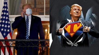 صورة ترامب يؤكد ضمنيا نيته ارتداء قميص سوبرمان