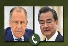 صورة لافروف ونظيره الصيني يبحثان الحفاظ على الاتفاق النووي مع إيران